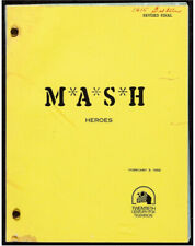MASH, 1982 ORIGINAL VINTAGE SCRIPT