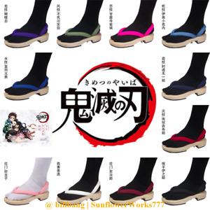 Demon Slayer Tanjirou Nezuko Cosplay Clogs Sandals Flip Flops Custom Made Shoes