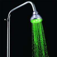LED 7 Colors Round Top Shower Head Sprinkler Bathroom Water-saving Sensor