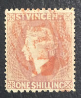 MOMEN: ST VINCENT SG #20 1873 USED XF **CERT** £350++ LOT #61477