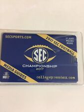 2017 SEC FOOTBALL MEDIA GUIDE Flash drive In Clear Protective Case
