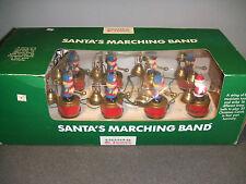 1991 Mr Christmas Santa's Marching Band,Animated Musical Brass Bells 35 Carols