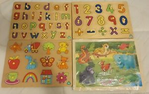 BUNDLE OF TODDLER WOODEN PUZZLES - ELC & TOYS R US ALL IN VERY GOOD CONDITION