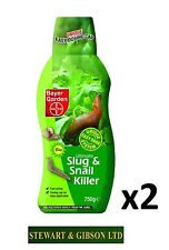 2 x Bayer Garden 750g (1.5kg) Ultimate Slug and Snail Killer TWIN PACK