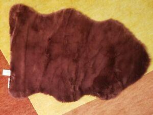 Fireside Faux Fur Burgundy Anthropologie 2x3 Sheepskin Rug NWOT