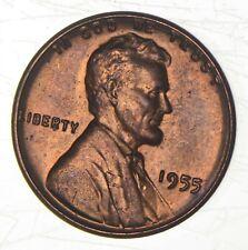 Double Die - 1955/55 Lincoln Wheat Cent - Poor Man's Double Die Error - Bu *427