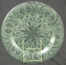 "INDIANA GLASS HORSESHOE 9 3/8"" DINNER PLATE GREEN DEPRESSION FREE SHIP"