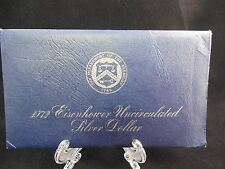 1972 EISENHOWER UNCIRCULATED 40% SILVER DOLLAR IN BLUE MINT PACKAGE