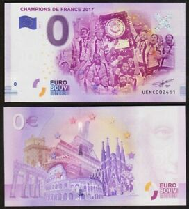 0 Euro Schein - CHAMPION DE FRANCE 2017 - 2017- UNC billet souvenir FRANCE rugby