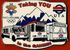 2002 Salt Lake City UTA Transportation Olympic Games Mark Pin