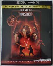 STAR WARS: EPISODE III REVENGE OF THE SITH 4K ULTRA HD BLU RAY 3 DISC SET