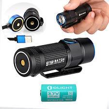Olight S1R Baton 900 Lumen USB Rechargeable LED Flashlight w/ RCR123 5C- S1 S10R