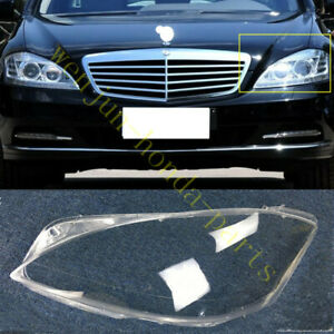 1PCS For Mercedes-Benz S-CLASS W221 2008-2012 Left SIDE Headlight Cover PC+Glue