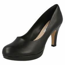 Clarks Ladies Smart Heeled Shoes CRISP KENDRA Black Leather UK 5.5 / 39