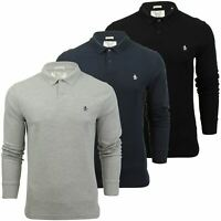 Mens Polo T-Shirt by Original Penguin 'Winston' Long Sleeved