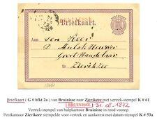 NEDERLAND 1872 BK   LANGST = BRUINISSE  =  NAAR  ZIERIKZEE  FRAAI PONSGAATJE