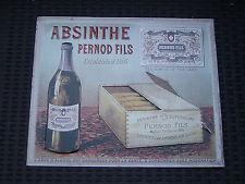 "Plaque métal ""ABSINTHE"" Pernod Fils."