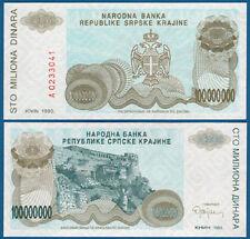 Croatia/krajina 100.000.000 dinara 1993 UNC p. r25