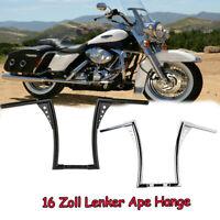 """1 1/4"""" 16 Zoll Lenker King Ape Hanger Bar  Schwarz Chrom für Harley Sportster"""