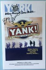 Signed Bobby Steggert (only) Autographed Playbill Color Yank !   Jeffry Denman