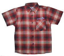"Quiksilver Boys Red Check Shirt Brushed Cotton Chest 32"" L 21"" NWOT"