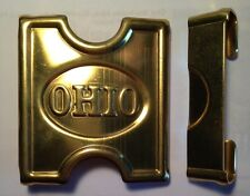 "Indian Wars, Brass ""H"" Style, ""Ohio"" Belt Buckle & Catch, ""Anson Mills"" *Repro?*"
