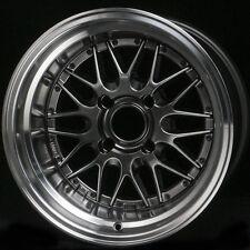 15X8 -10 ROTA KENSEI HYPER BLACK 4X114.3 WHEEL Fits Corolla Ae86 240Sx Hellafail