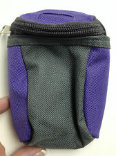 Mini Backpack for Belt or hanging on main Backpack Purple and Gray 1 zippers