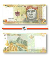 Peru 10 Nuevos Soles 2009 Unc Pn 182a Prefix A Suffix A, Banknote24