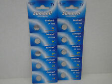 10 X EUNICELL CR1220 3v LITHIUM BUTTON/COIN CELL BATTERIES