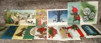 Vintage Lot of 16 Christmas Cards Unused NO Envelopes