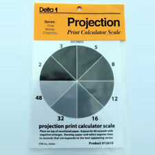 "Delta 1 - Projection Print Calculator Scale 4x5"" perfect exposures every time"