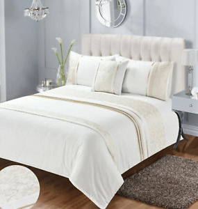 Lexie Duvet Cover Set Cream SUPER KING