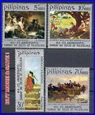 Philippines 1972 beautiful Paintings Sc#1149-52 Mnh Ships, Mythology, Music
