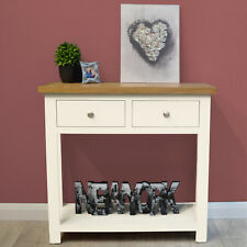 Belgravia White Painted Console Table / Oak Hall Table / Solid Hallway Storage