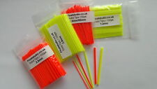 Solid Plastic Pole Float Tips 1.0-2.0mm 100pk (Pole float making & supplies)