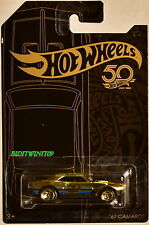 HOT WHEELS 2018 50th ANNIVERSARY BLACK & GOLD '67 CAMARO CHASE