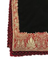 Black Velvet Shawl, Women Wraps, Zari Embroidered, Kashmir Embroidery Shawls