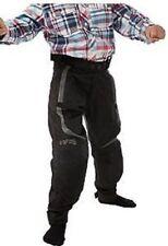 Pantalons noirs en polyester pour motocyclette