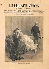 Paris Théâtre du Vaudeville Comédie Georgette de Victorien Sardou GRAVURE 1885