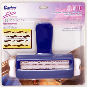 Darice Wavy Shaped Pattern Crimper Tool for Paper, Ribbon, Foil - Adds Texture