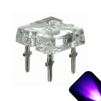 100 x Flat Piranha UV Purple LED Light Super Bright LEDs Ultra 3mm 5mm Tail RC C