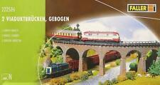 Faller 222586 N - 2 Viaduktbrücken, gebogen NEU & OvP