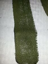 Burlap Scrim Green Camoflague webbing used for Gilley Suits