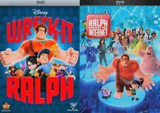 Wreck it Ralph 1 & 2 (Ralph Breaks the Internet) Box Set DVD Bundle New!