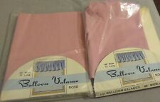 "Lot Of 2 Vintage Kmart Balloon Valance Valences Rose Color 86""x15"""