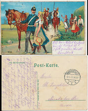 Darmstadt german Fieldpost Artist Card Litho Military 1916 (29