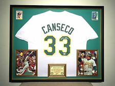 Premium Framed Jose Canseco Autographed Oakland A's Jersey JSA COA Athletics