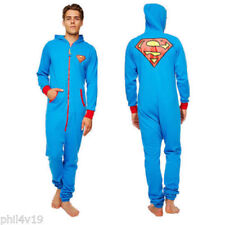 Superman Adult Jumpsuit sleepsuit (mens onsie, onesy onzie clothing)