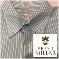 Mens PETER MILLAR Size 2XL Dress Shirt Button Down XXL PRISTINE CONDITION !